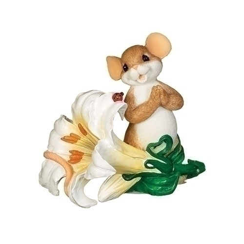 Easter Lily with Mouse