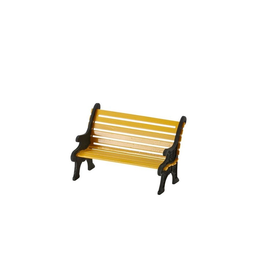 City Wrought Iron Park Bench, Yellow