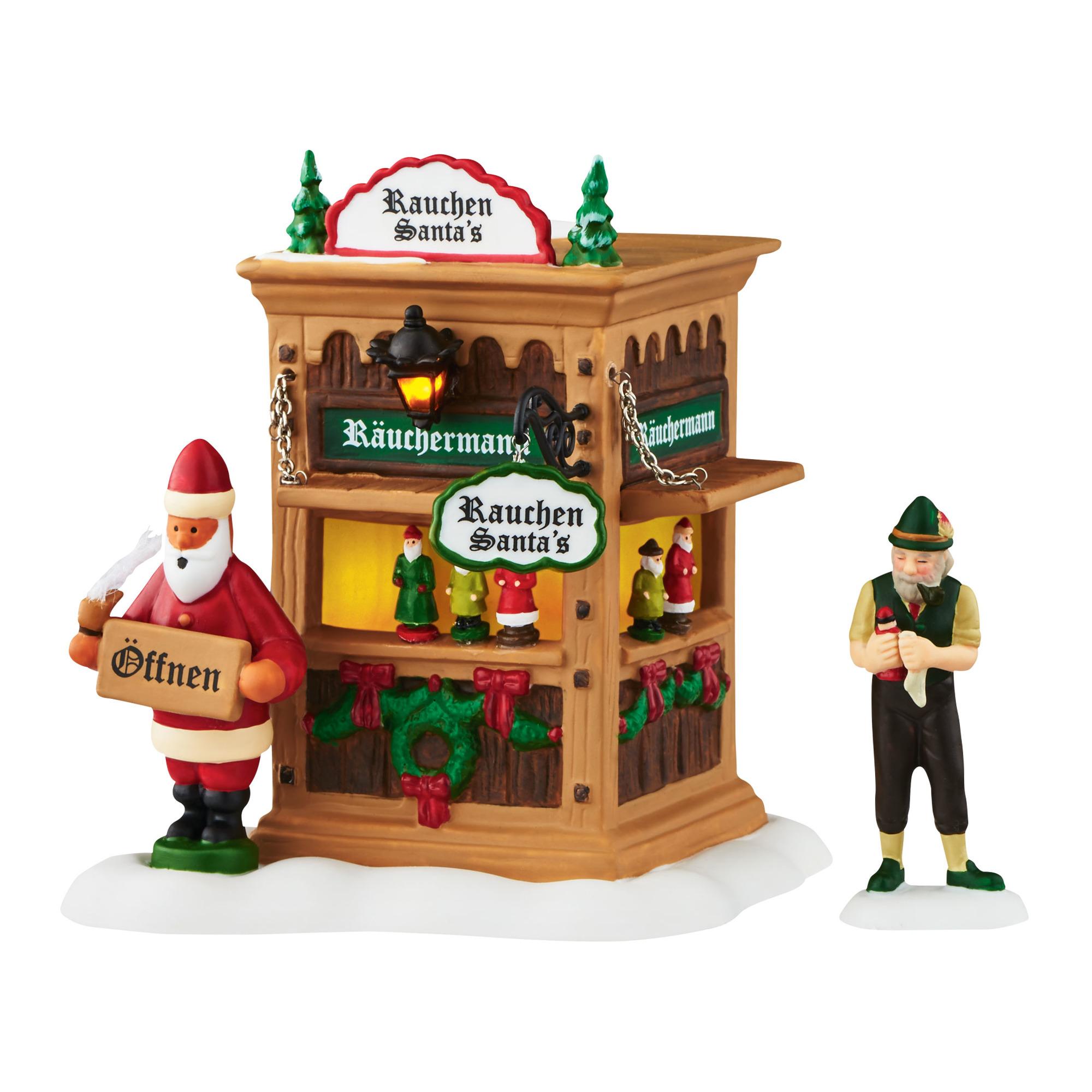 Christmas Market Smoker Booth