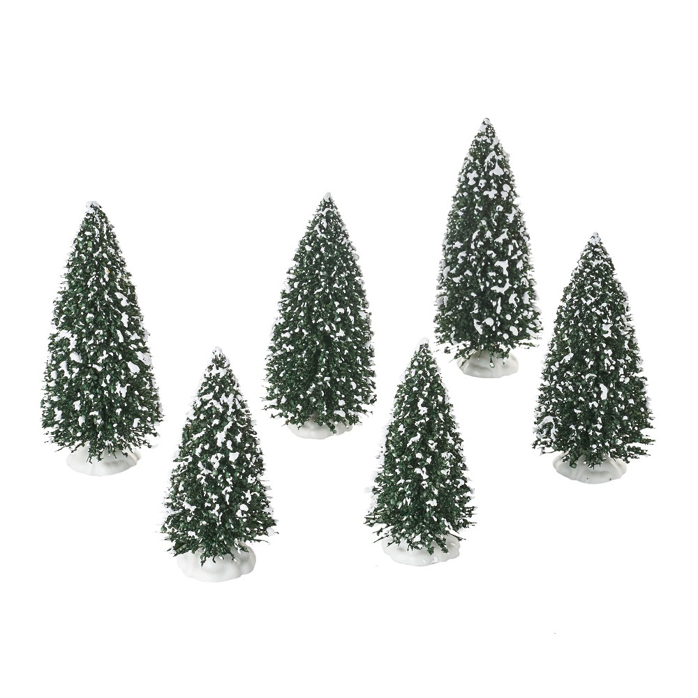 Frosted Pine Grove - Set Of 6
