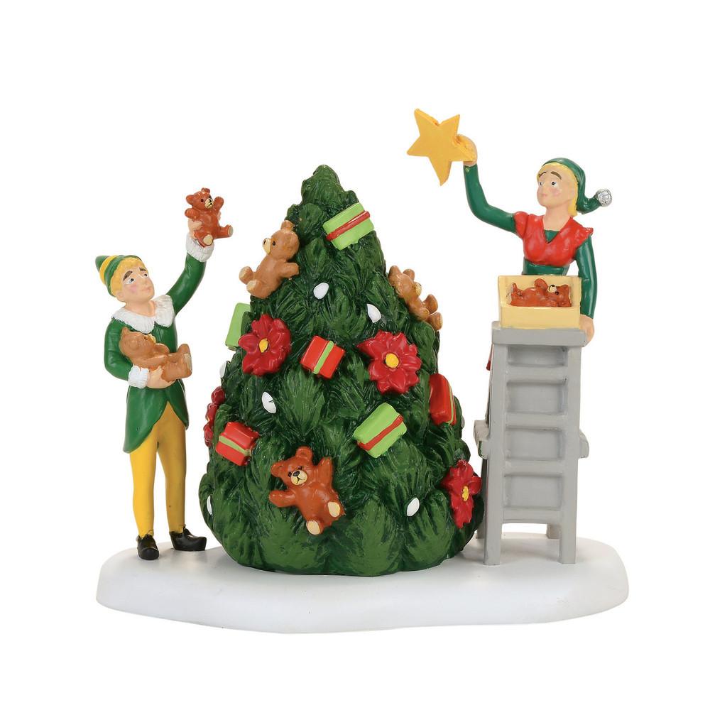 Buddy Decorating Tree With Jovi