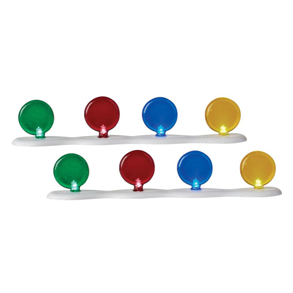 Lit Candy Corner Luminaries