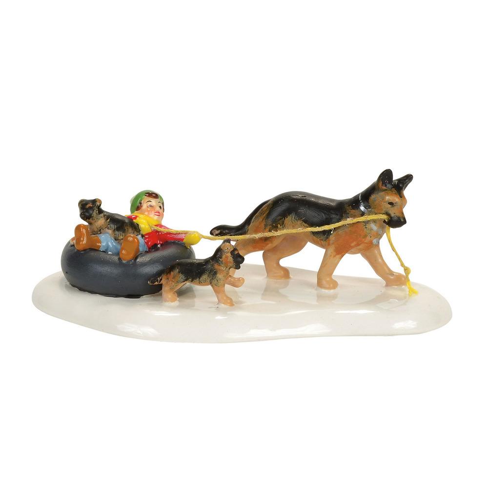 Inner Tube Sled Dog Race