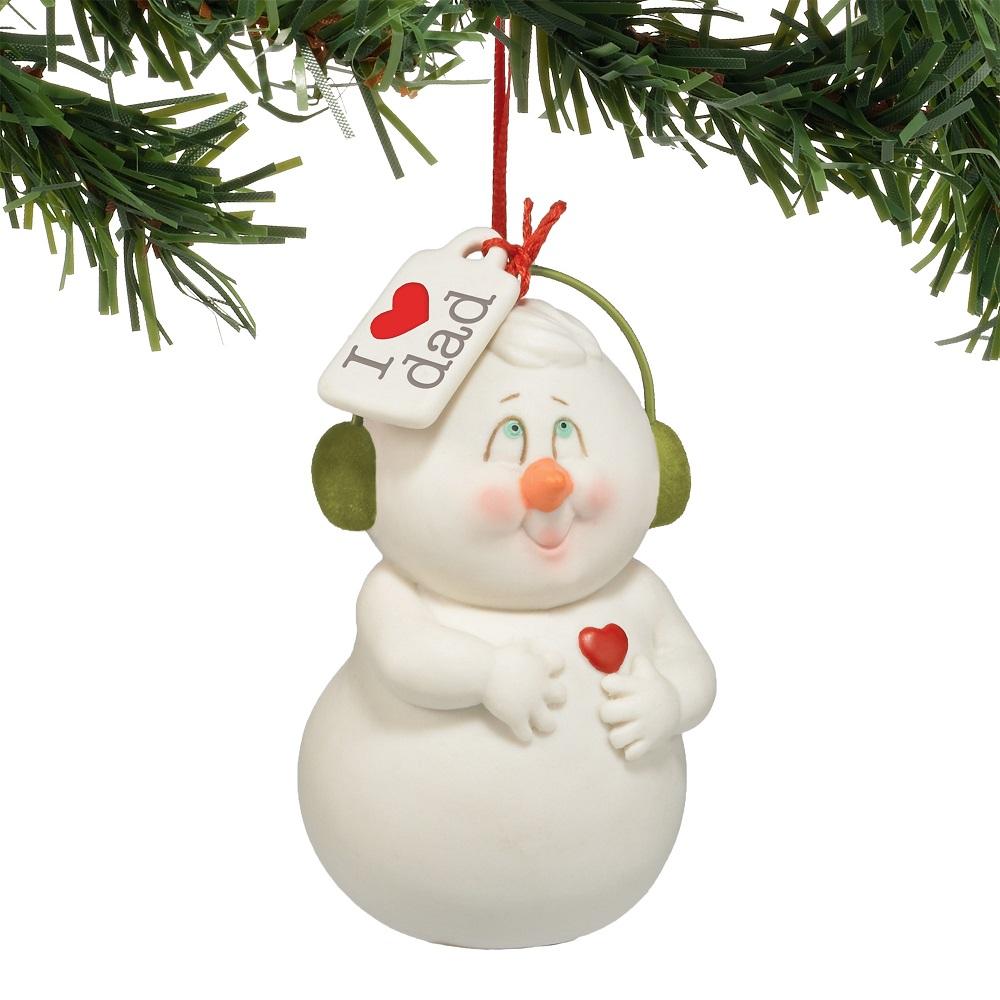 I Heart Dad Ornament