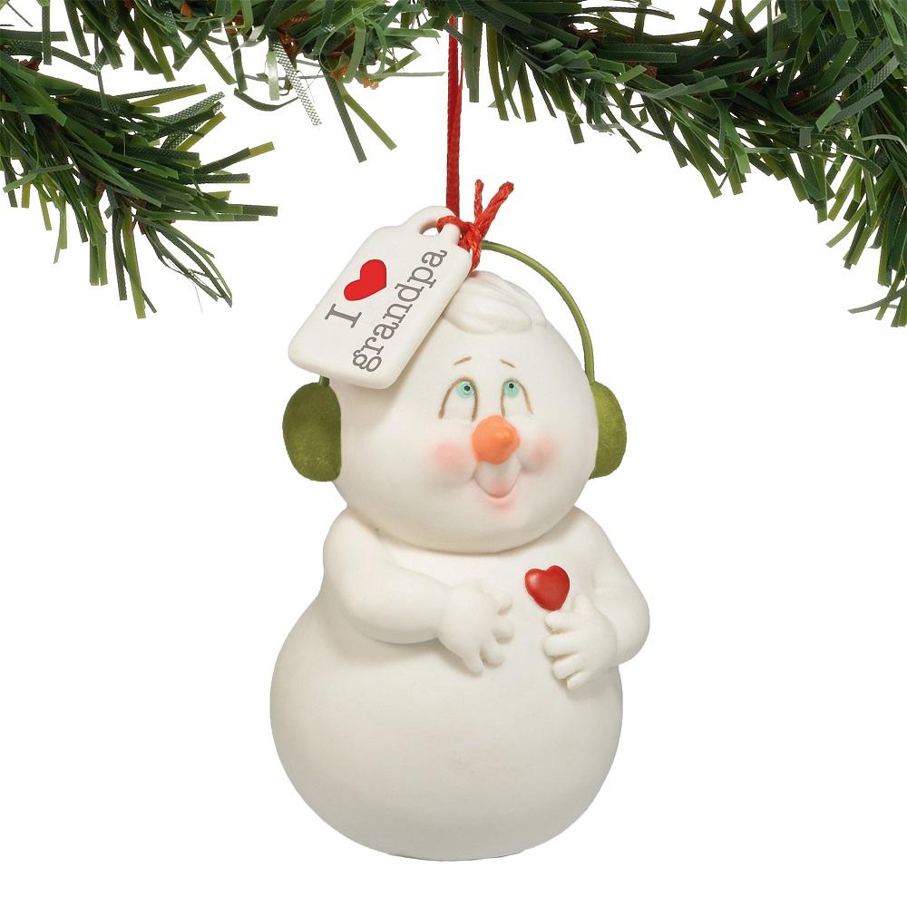 I Heart Grandpa Ornament