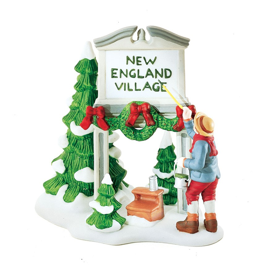 ''Fresh Paint'' New England Village Sign