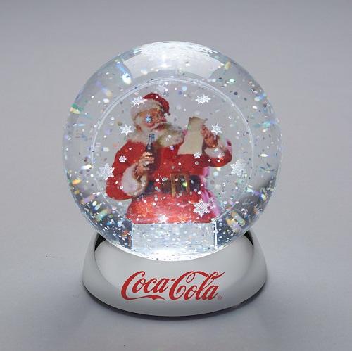 Santa with a Coke Snowglobe