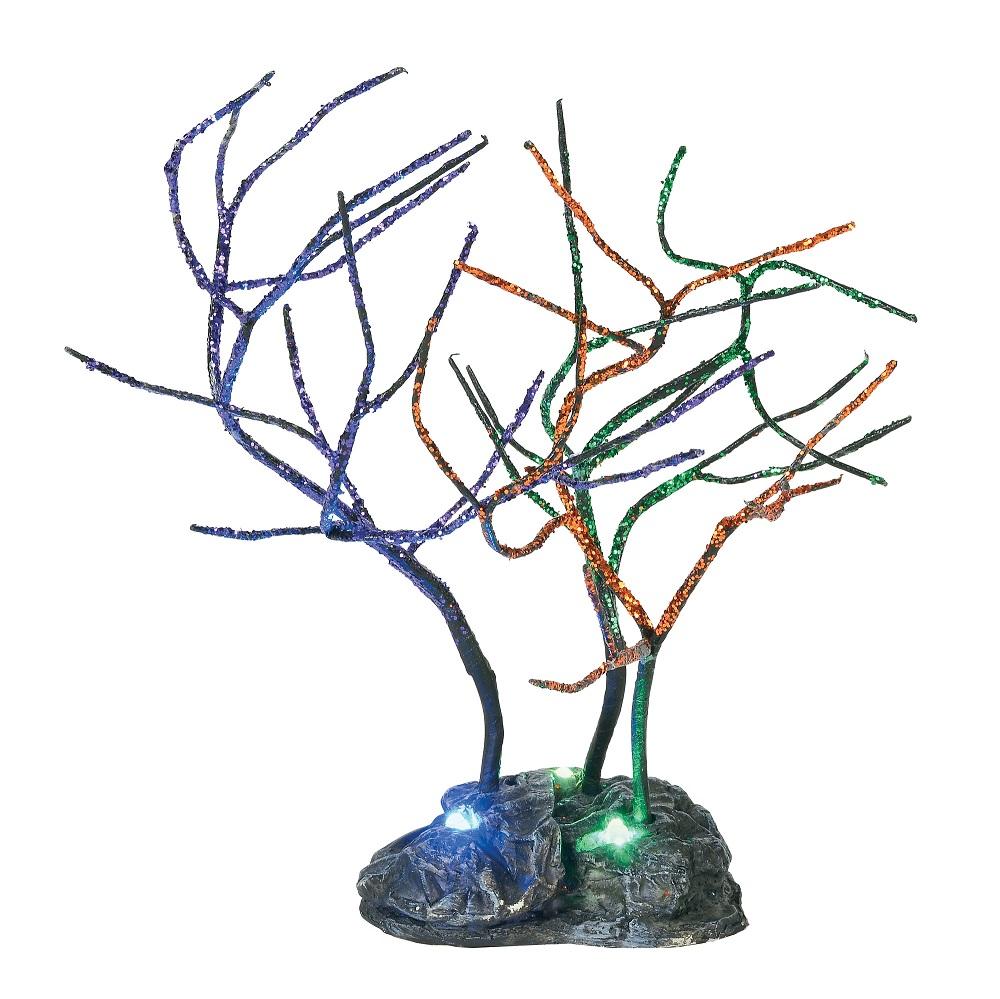 Lit Spooky Sparkle Trees