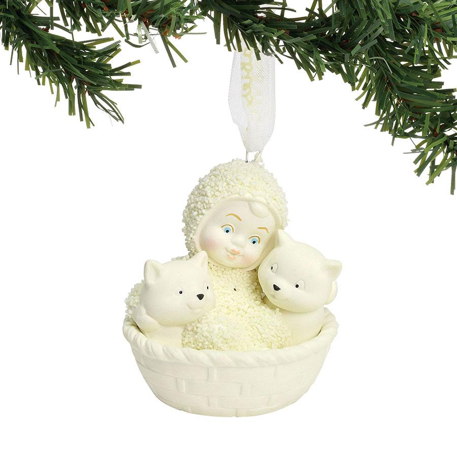 Basket of Kittens Ornament