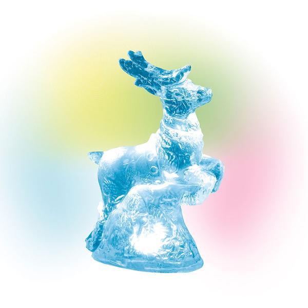 Lit Ice Castle Reindeer
