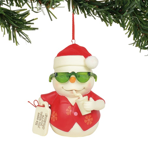 He Sees You When You're Drinking Ornament