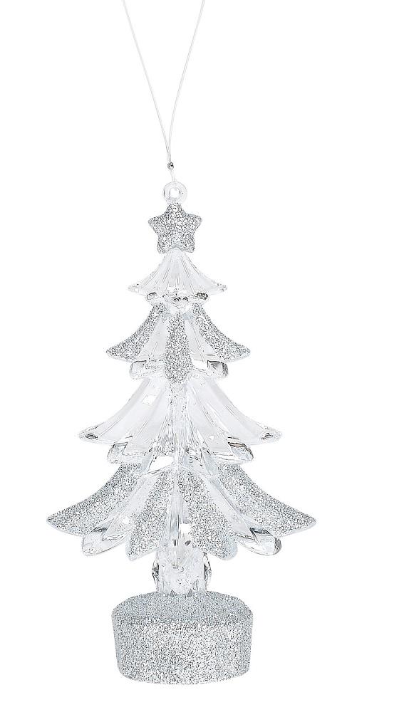 Silver Acrylic Tree Ornament
