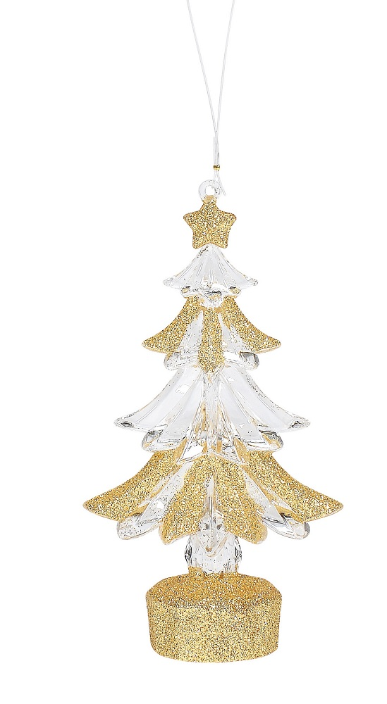 Gold Acrylic Tree Ornament