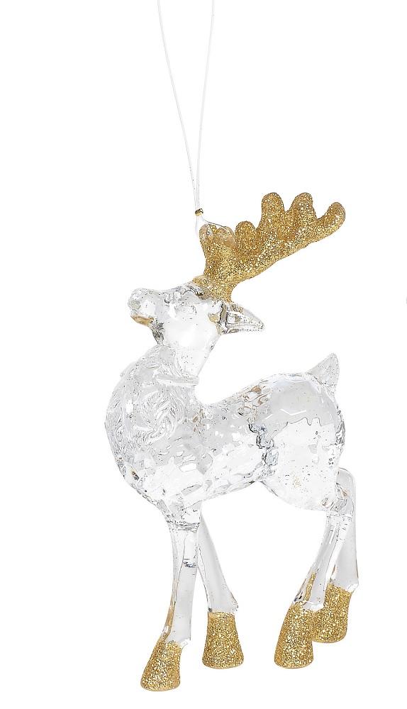 Gold Acrylic Deer Ornament