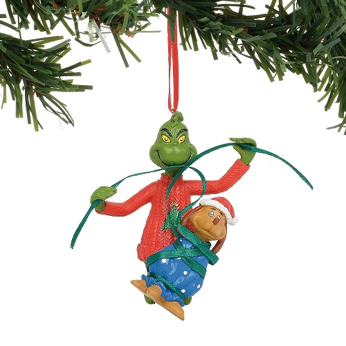 Grinch Wrapping Max Ornament