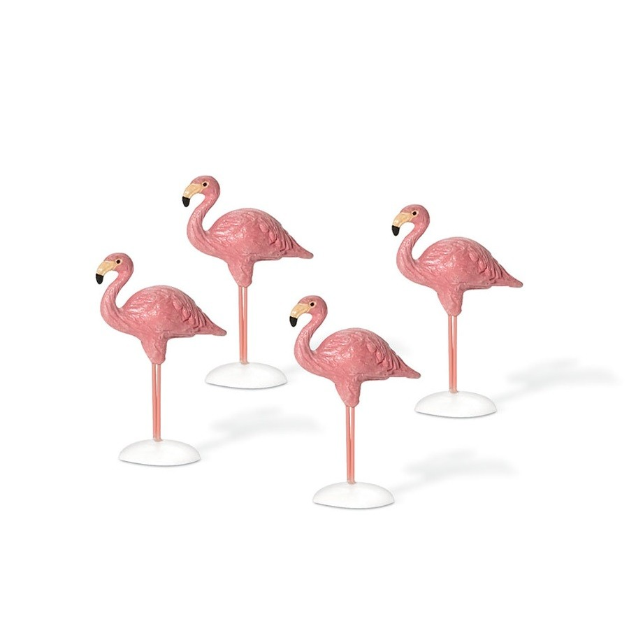 Village Flamingos - Set of 4