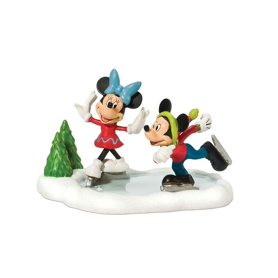 Mickey And Minnie Go Skating On Ice