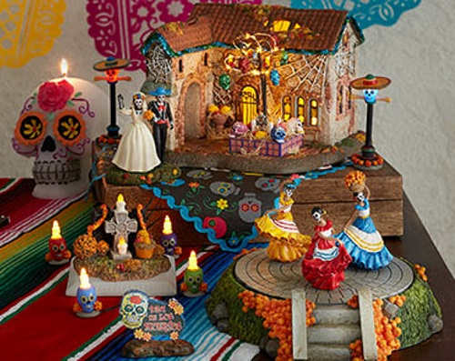 Day Of The Dead Set 2019 Snow Village