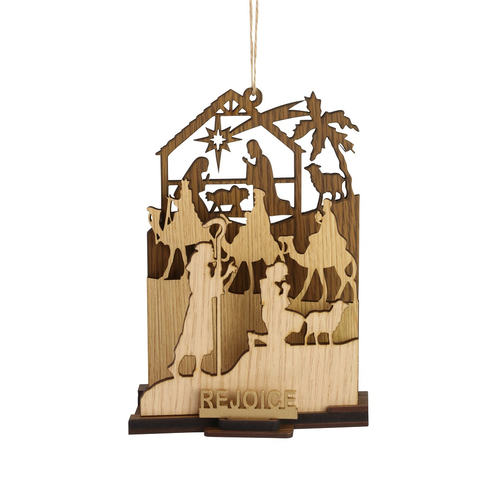 Rejoice Natural Nativity Ornament