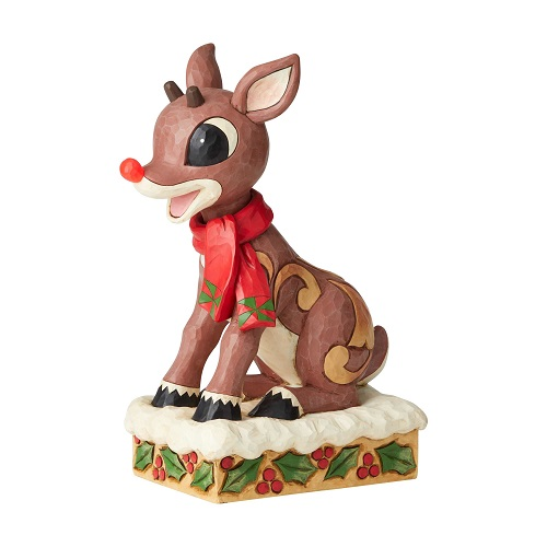 Rudolph With Lighted Nose Statue