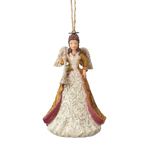 Victorian Angel With Horn Ornament