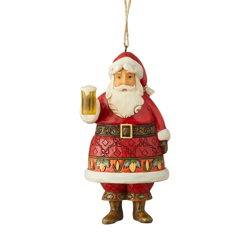 Craft Beer Santa Ornament