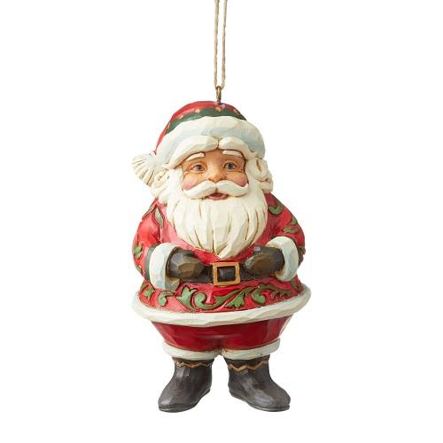 Mini Jolly Santa Ornament
