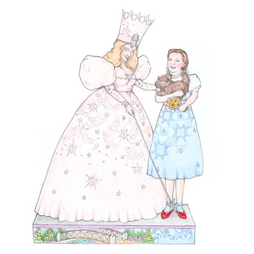 Wizard of Oz Glinda & Dorothy with Ruby Slippers Figure