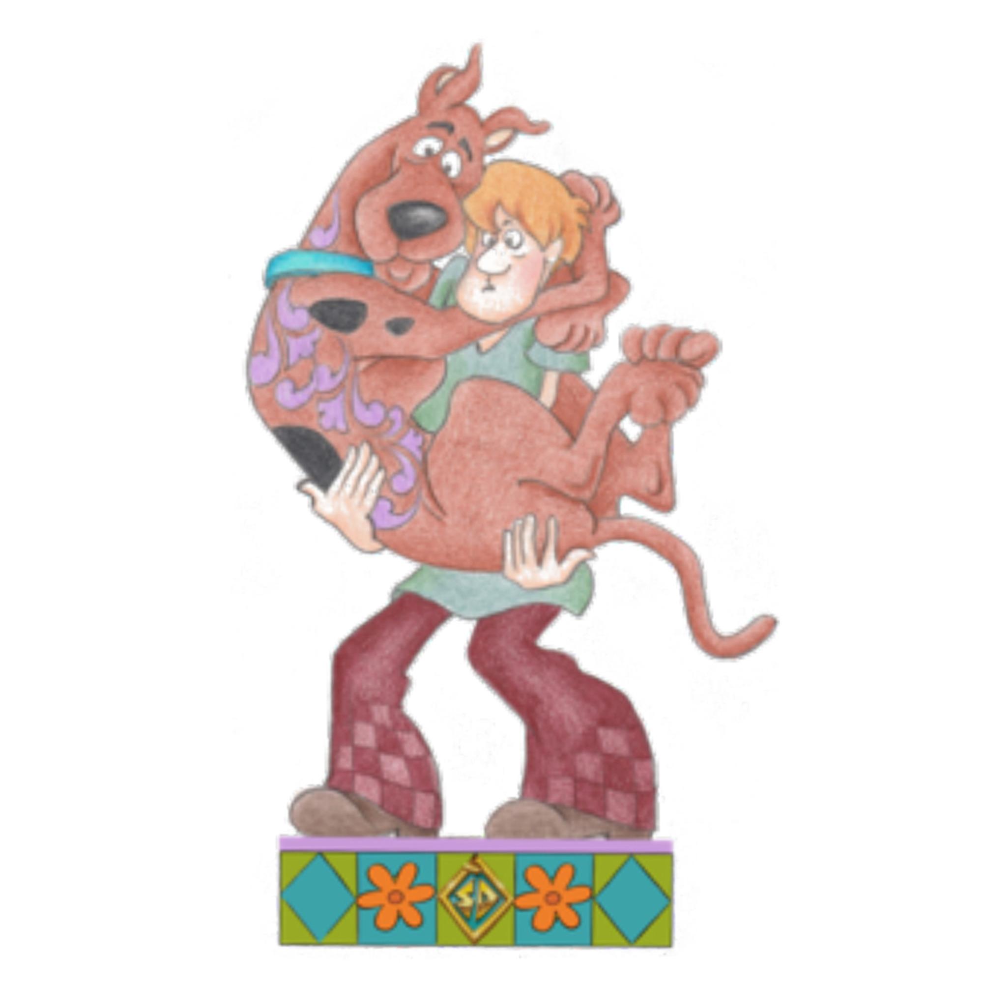 Shaggy Holding Scooby-Doo