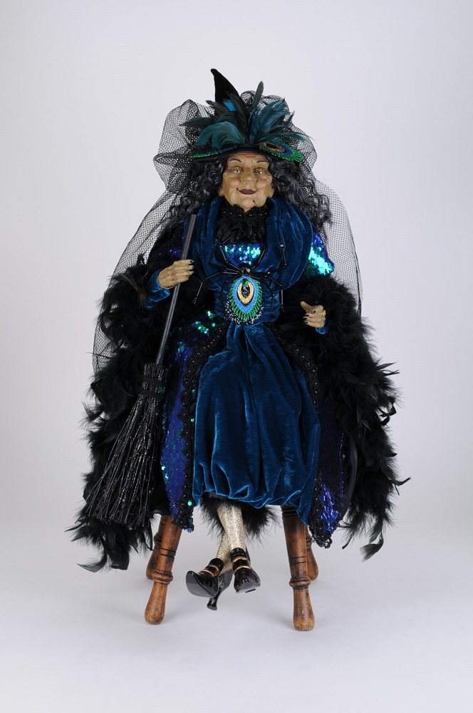 Peacock Sitting Witch