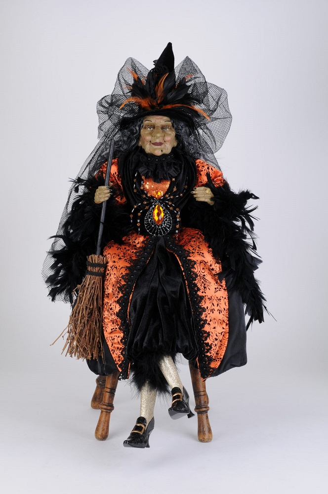 Amber Sitting Witch