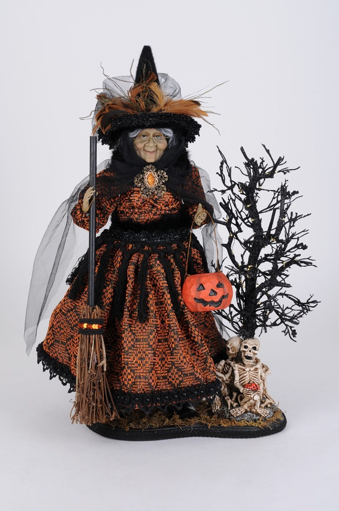 Lighted Haunted Trail Witch On Base
