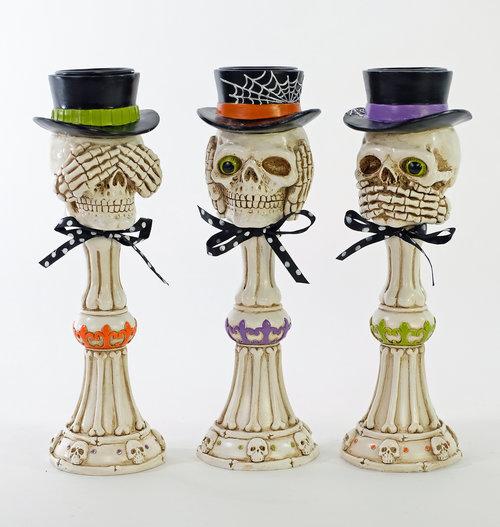 No Evil Skeleton Pillars