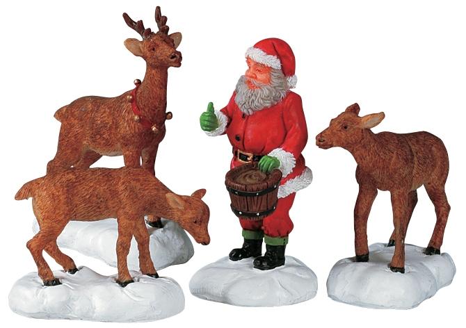Santa Feeds Reindeer