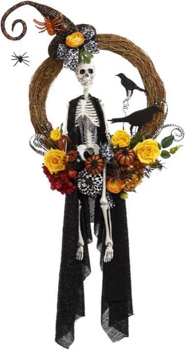Skeleton / Witch Wreath