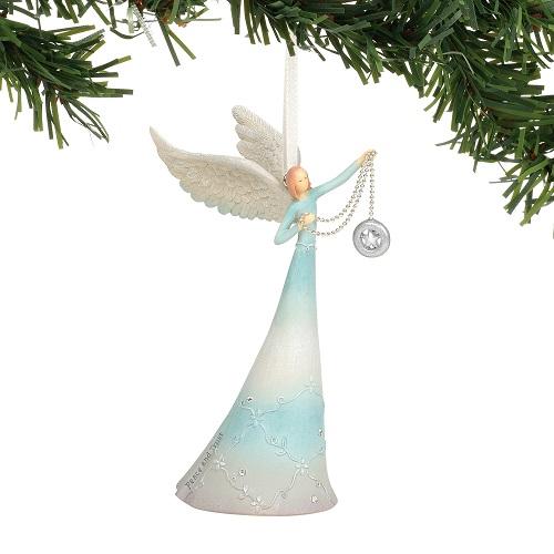 Peace & trust Angel Ornament